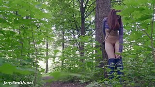 Jeny Smith. Long Summer Walk. Naked in forest