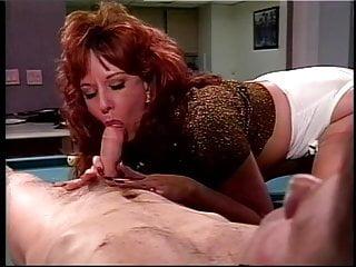Tit sucking fetish Mature big tits sucks big cock on pool table
