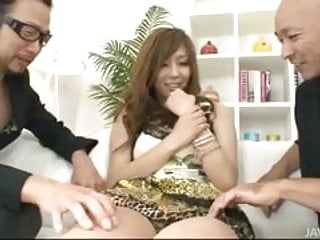 Furry sex toys Furry muffed hinano banged by two horny guys