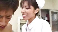 Very Hot and Sexy Asian Nurse -  sucking nurse
