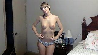 Sexy Nerd Does a Long Striptease