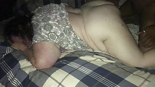 Bbw loves a 9 inch bbc doggy while husband records