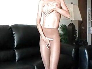 Sexy silky cloths Lanas shiny silky sexy sweaty shimmering hose