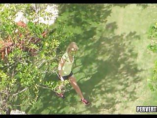 Teen stalkings Stalking blonde teen