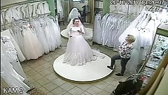 spy camera in the salon of wedding dresses 7 (sorry no sound