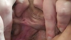 Horny Housewife Plays with Huge Labia
