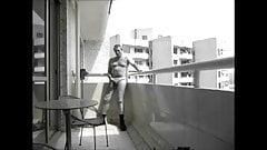 Nude Outdoor Wanking on Balcony