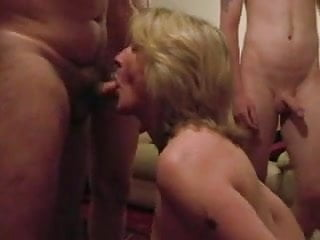 Porn men suck boob Cumslut wife sucks a lot of men