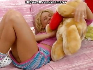 Amazing teen kasia dildos pussy creatively Amazing blonde plays with dildo and cock