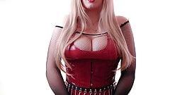Red PVC Mistress, JOI part 1
