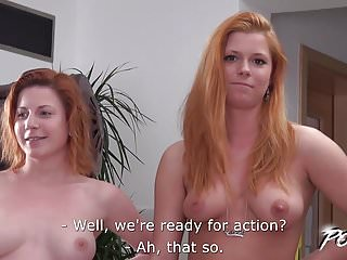 Bbw duo Povbitch - redhead duo try to fuck cock best they can