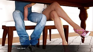 Blossoming Love - Handjob under the table (20)