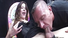 Hot shemale asslicked and fucks guy