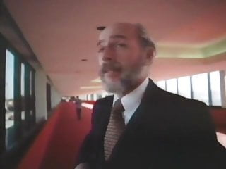 Gay beard men Old bearded man in a suit getting head in a helicopter