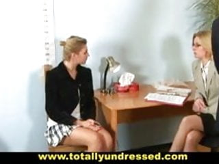 Nude teens and sex Embarassing nude job interview for sexy blonde babe