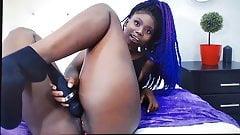 Emy teases with dildo