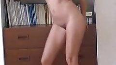 Naked woman dancing