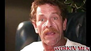 Experienced rod choker spanks his hairy cock and sprays cum