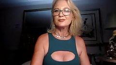 Woman caresses herself and masturbates