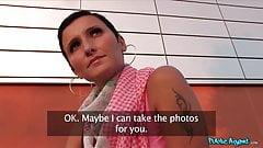 pezzoporn.com - Publicagent Gabby - Brunette girl suck a big