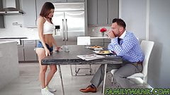 Gorgeous teen Shavelle Love stretched by lucky stepdad