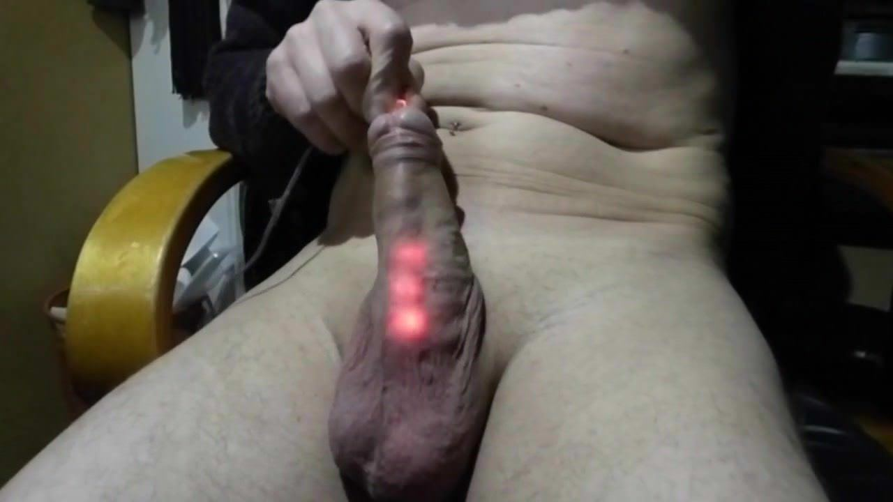 Hot guy in dildo up close