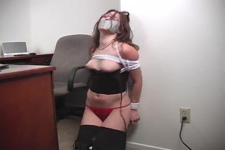 Chair Bound Gagged Big Tits