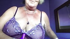 Slutty Granny Fucks Pussy With Cumcumber Part #1