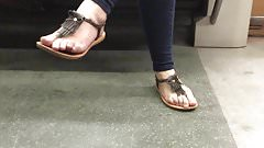 Candid Feet on the Metro Face