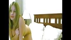 hottt blonde jump up bedroom strip n play