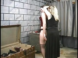 Lesbian make out movie nude - Two cute basement bdsm lesbians make out and get roped up by master len
