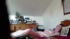 Wife orgasms naked