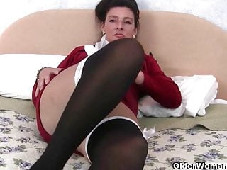 Dildo up ass British granny loves a dildo up her ass
