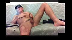 sexy dad jerking his cock