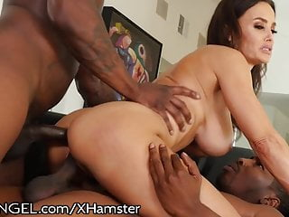 Lisa ann interracial gangbang vids Evil angel lisa ann milf interracial dp ass fuck 3way