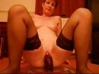 Closeup look at pussy - She loves black bildo cock...look at her wet pussy