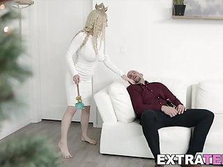 Slut boob fuck - Tiny girl with big boobs teases man to fuck her like a slut