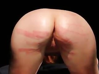 Gay naked hard spanking - Slave endures hard spanking