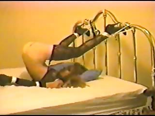 Tied to a bed porn Pretty tied to bed and spanked