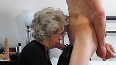 Grey Hair Granny Loves cock down her Neck. Dirty Gilf