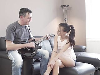 Tiffany teen pictures - Old4k. old bass guitarist acquaints fan with his main...
