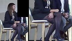Amazing Legs in Black Pantyhose