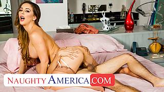 Naughty America - Cherie DeVille fucks young cock