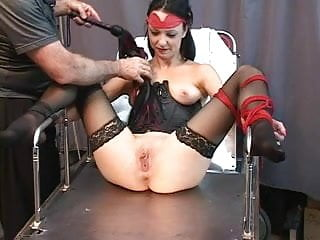 Whipped tits thumbs - Cute young brunette is restrained with ropes and tortured with whips