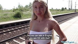 Public Agent Train station public sex with beautyful woman