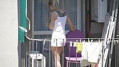 Teen neighbor in sheer lingerie