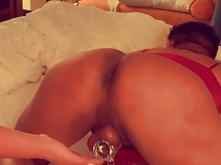Sissy and pussy Massaging that sissy pussy and locked clit