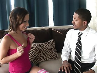 Suck her tits till she screams - Black guy fucks skinny student till she scream