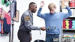 Blonde jock pounded doggystyle raw by BBC police officer