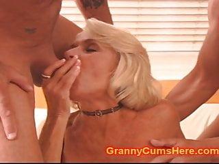 Slutty hairy granny - Slutty granny gets a gang bang